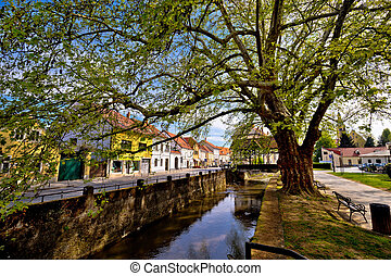 Town of Samobor river and park view, northern Croatia