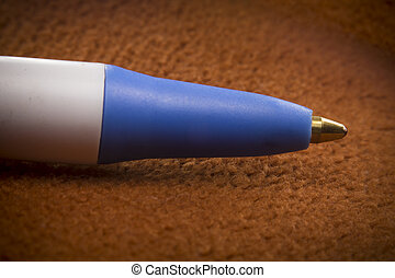 Macro Ball Point Pen - Close up macro ball point pen on...