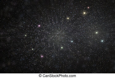Géminis, constelación, 3D, Ilustración,...