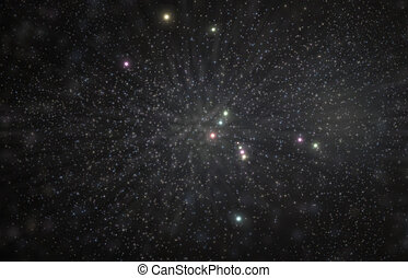 Orion Constellation 3D Illustration - Orion greek hunter...