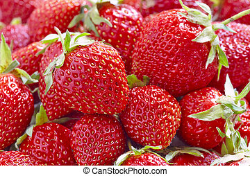 Strawberry - full frame - Fresh Strawberry berry close up...