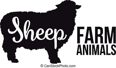 Black sheep animal circuit with product lettering