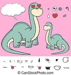brontosaurus expressions cartoon7 - dinosaur brontosaurus...