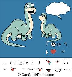 brontosaurus expressions cartoon8 - dinosaur brontosaurus...