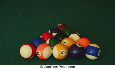 Billiard balls snooker - The billiard ball ricocheted in a...