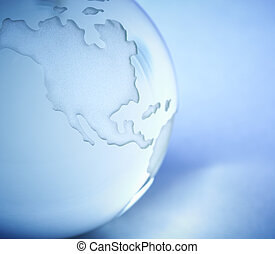 Glass World - conceptual close-up, special toned photo f/x,...