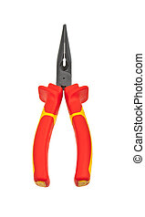 Red combination pliers for high-voltage working