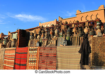 Goods for sale in Morocco