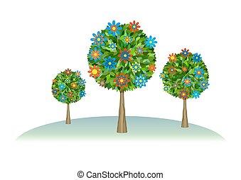 flower trees