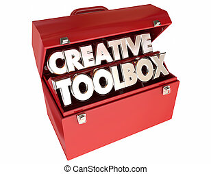 Creative Toolbox Imagination Ideas Inspiration 3d Words