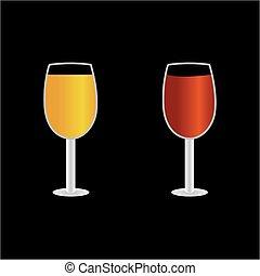 beer wine vector