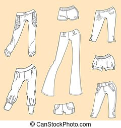 Women's summer trousers and shorts - The design of summer...