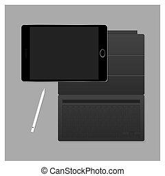 Vector Black Tablet Pro