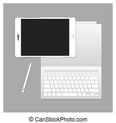 Vector White Tablet Pro