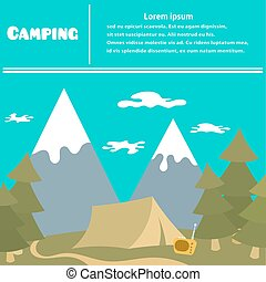Camping and vacation travel outdoors Sleek style Camping...