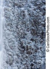 Snow at Fukuroda Falls Waterfall in Ibaraki Japan Winter