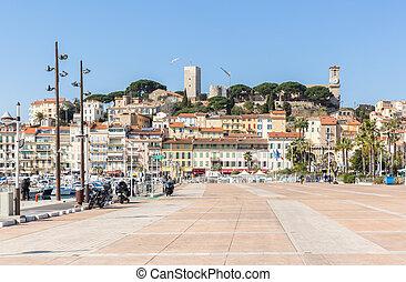 Cannes Old square France - Cannes le Suquet old quarter...