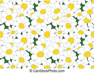 Daisy seamless vector texture
