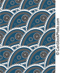 Retro seamless paisley indian vector pattern