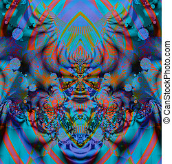 Colorful Fractal Background. A fractal is a natural...