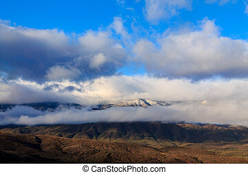 Clouds over Mogollon Rim plateau - Early morning clouds...