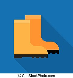 Rubber boots icon - Rubber boots, rubber boots isolated,...