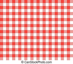 Picnic Table Background vector clipart of red picnic table cloth plaid with square details
