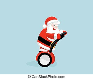 Santa Claus on the segway Vector illustration EPS 8 No...