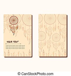 dreamcatcher - Cards with dreamcatcher and feathers....