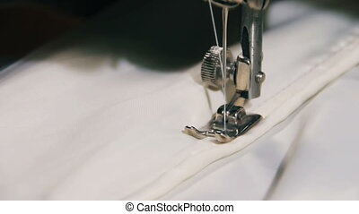Sewing Machine in Work - Old Sewing machine in Work Tailor...