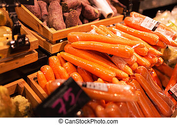Fresh Carrot in market place - An Fresh Carrot in market...