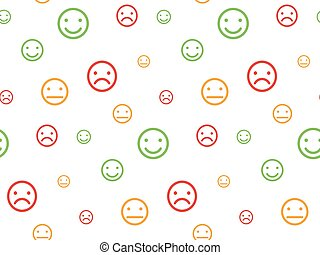 Color smiley faces seamless pattern
