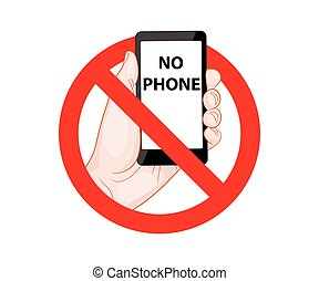 Forbidding Signs No Phone vector illustration