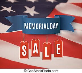 Big Memorial Day sale background. - Big Memorial Day sale...