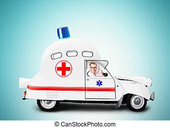 点滅灯, 自動車, 救急車