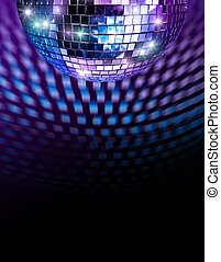 Disco mirror ball - Disco mirro ball reflecting light spots...