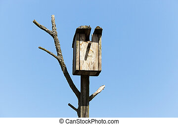 birdhouse from a tree