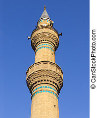 The minaret of the mosque