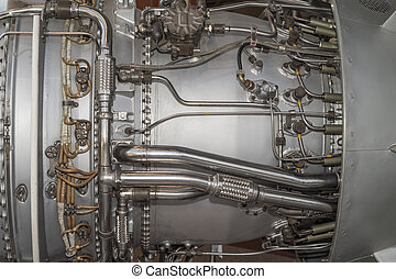 jet engine - Detailed exposure of a turbo jet engine