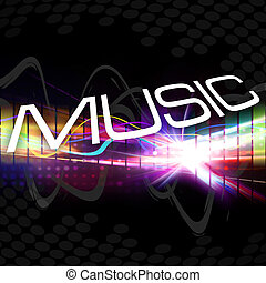 Funky Music Montage - A rainbow colored graphic equalizer...