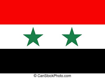 Syria flag - Illustration of the flag of Syria