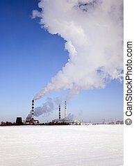 Chemical plant , winter season - plant for the production of...
