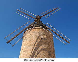 Windmill St Saturnin France - stone windmill in Provence,...