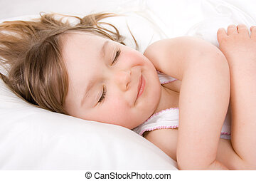 little girl sleeping - sweet toddler little girl sleeping