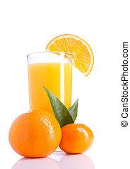 Orange Juice on white
