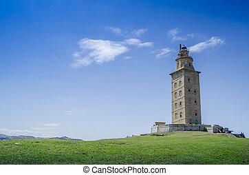 Tower of Hercules in A Coruna, Galicia, Spain