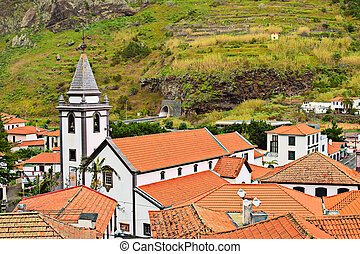 View of Church in Saint Vincent, Madeira,Portugal