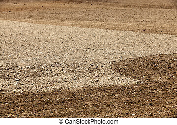 land plowed field