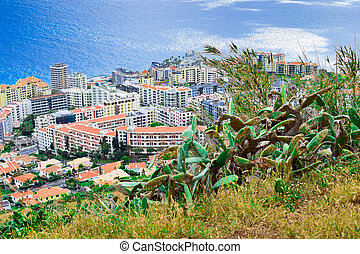 Funchal from lookout on Pico da Cruz, Madeira