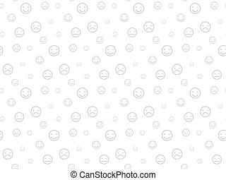 Smiley faces seamless light background